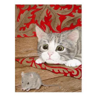 Es gibt eine Maus im Haus! Postkarte