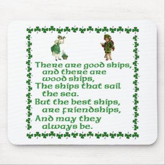 Es gibt gute Schiffe Mousepad