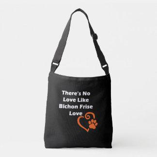 Es gibt keine Liebe wie Bichon Frise Liebe Tragetaschen Mit Langen Trägern