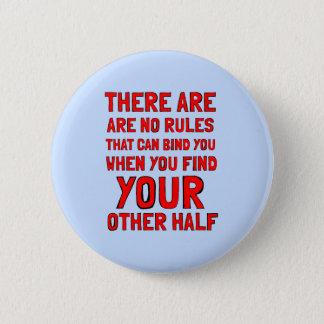 """""""Es gibt keine Regeln"""" runder Knopf Runder Button 5,1 Cm"""