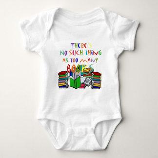 Es gibt keine solche Sache wie zu viele Bücher! Baby Strampler