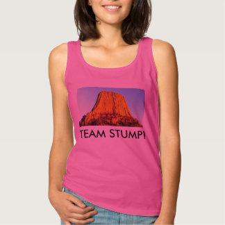 Es gibt keine Wälder auf flachem Erde-TEAM-STUMPF Tank Top