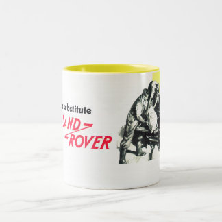 Es gibt keinen Ersatz für Land Rover Zweifarbige Tasse