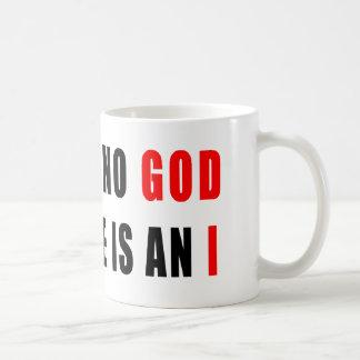 Es gibt keinen Gott im Atheisten Tasse