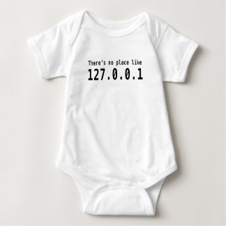 Es gibt keinen Platz wie 127.0.0.1 Baby Strampler