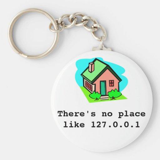 Es gibt keinen Platz wie 127.0.0.1-Schlüsselring Schlüsselanhänger