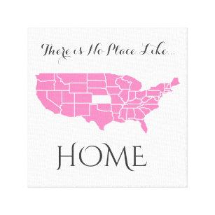 Es gibt keinen Platz wie Zuhause _Kansas Leinwanddruck