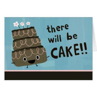 Es gibt Kuchen! Kundenspezifische Party Einladung Grußkarten