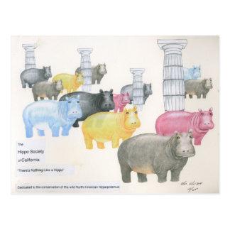Es gibt nichts wie ein Flusspferd Postkarte