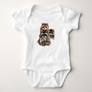 Es gibt nie zu vieles Raccoons-süßes Tier Baby Strampler