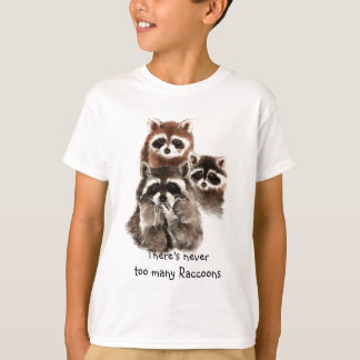 Es gibt nie zu vieles Raccoons-süßes Tier T-Shirt