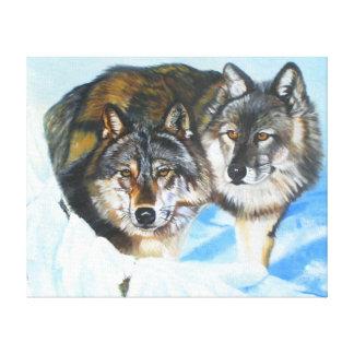 Es gibt nur Liebe-Wolf-Leinwand-Druck Leinwanddruck
