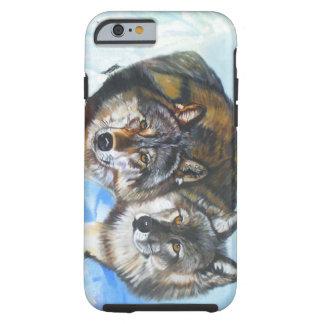 Es gibt nur Liebe-Wolf-Telefon-Kasten Tough iPhone 6 Hülle