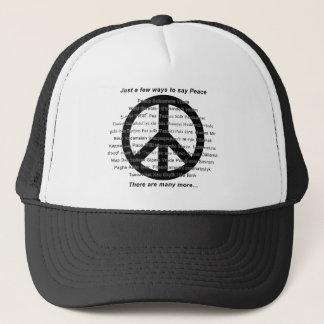 Es gibt viele Weisen, Frieden mit Symbol zu sagen Truckerkappe