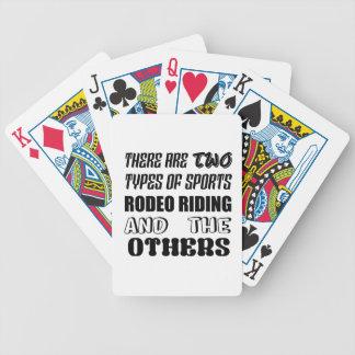 Es gibt zwei Arten Sport Rodeo-Reiten und oth Bicycle Spielkarten