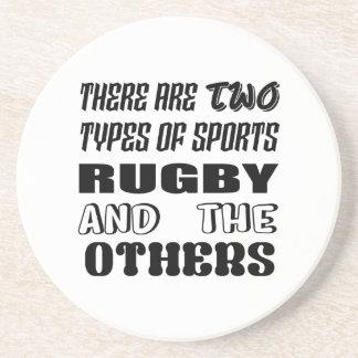 Es gibt zwei Arten Sport-Rugby und -andere Getränkeuntersetzer