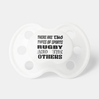 Es gibt zwei Arten Sport-Rugby und -andere Schnuller