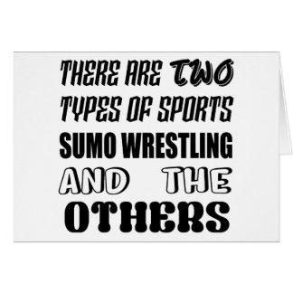 Es gibt zwei Arten Sport Sumo-Wrestling und Karte