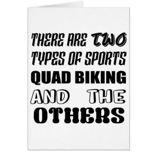 Es gibt zwei Arten Sport Viererkabel Radfahren und Karte