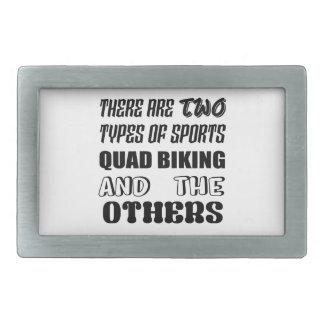 Es gibt zwei Arten Sport Viererkabel Radfahren und Rechteckige Gürtelschnallen