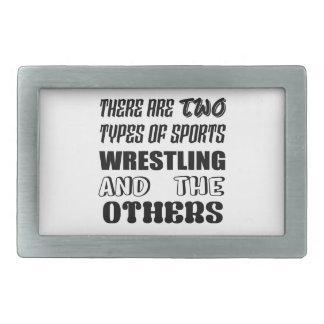 Es gibt zwei Arten Sport-Wrestling und -andere Rechteckige Gürtelschnalle