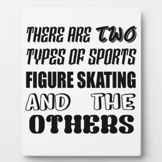 Es gibt zwei Arten Sport Zahl Skaten und O Fotoplatte