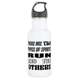 Es gibt zwei Arten Sportlauf und -andere Edelstahlflasche