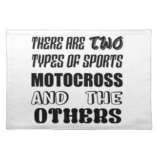 Es gibt zwei Arten SportMotocross und -andere Tischset