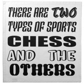 Es gibt zwei Arten Sportschach und -andere Stoffserviette