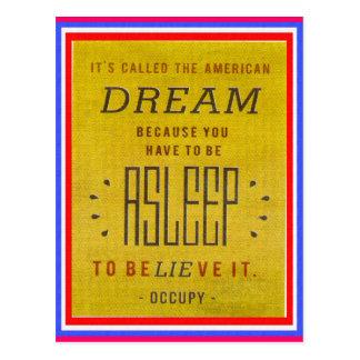 Es hat amerikanischer Traum-Occupy Wall Street Postkarte