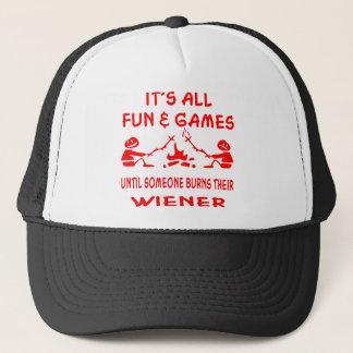 Es ist aller Spaß u. Spiele, bis jemand ihr brennt Truckerkappe