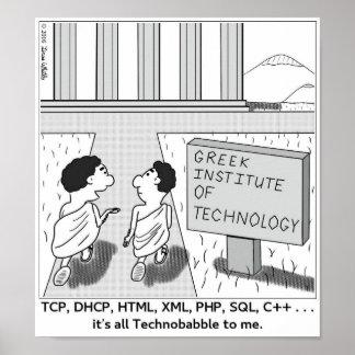 Es ist alles Technobabble zu mir Poster