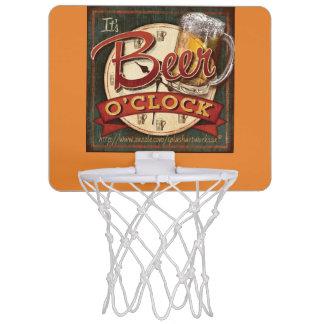 """""""Es ist Bier-Uhr """" Mini Basketball Netz"""