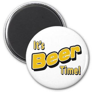 Es ist Bier-Zeit! Runder Magnet 5,1 Cm