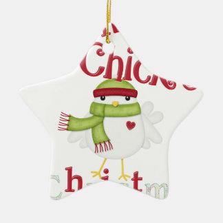 Es ist das 1. Weihnachten dieses Kükens Keramik Stern-Ornament