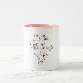 """""""Es ist die kleinen Sachen im Leben"""" Kaffee-Tasse Tasse"""