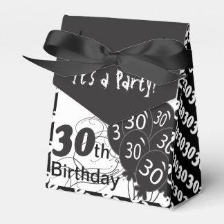 Es ist ein 30. Geburtstags-Party Geschenkschachtel
