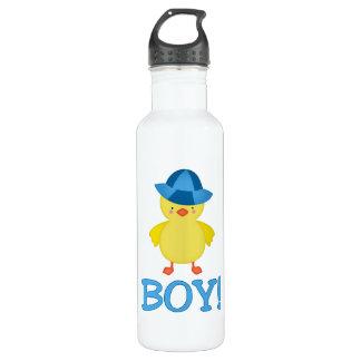 Es ist ein Baby Duckie Blau-Hut Edelstahlflasche
