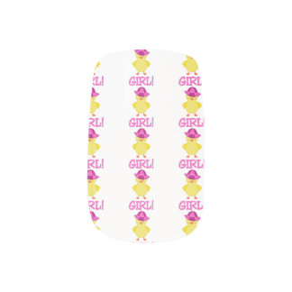 Es ist ein Baby Duckie rosa Hut Minx Nagelkunst