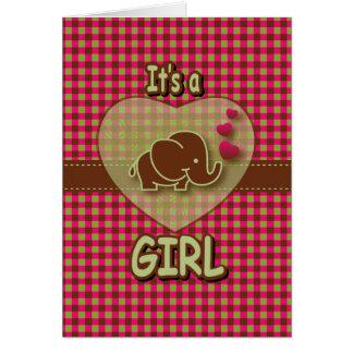 Es ist ein Baby-Elefant des Mädchen-| Karte
