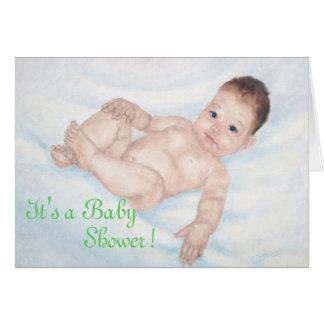 Es ist ein Babyparty-Grün Invitaion Mitteilungskarte