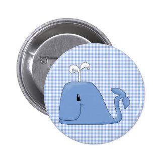 Es ist ein Blauwal Runder Button 5,1 Cm