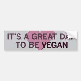 Es ist ein großer Tag 2 B vegan! Autoaufkleber