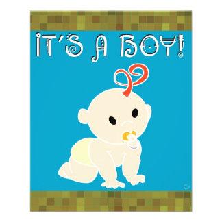 Es ist ein Junge 11,4 X 14,2 Cm Flyer