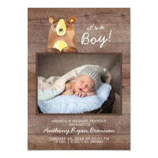 Es ist ein Junge! Bär BoysBaby Karte
