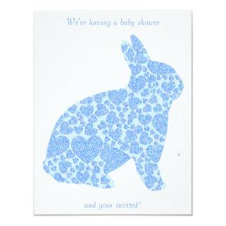 Es ist ein Junge, den blaue Häschen-Babyparty 10,8 X 14 Cm Einladungskarte