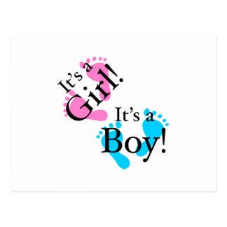 Es ist ein Junge, den es ein Mädchen - Postkarte