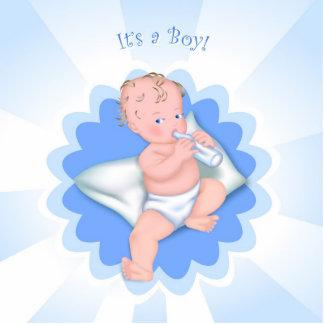 Es ist ein Junge! Freistehende Fotoskulptur