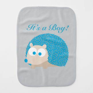 Es ist ein Junge! Igel Spucktuch