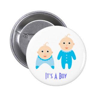 Es ist ein Junge: Neugeborener Baby-Knopf Runder Button 5,1 Cm